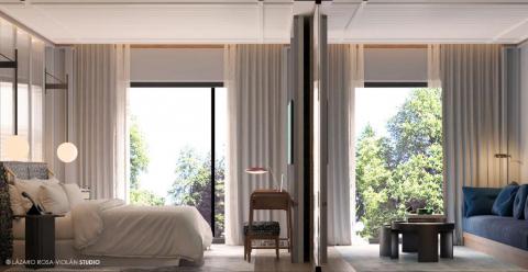 Imagen del interior del futuro hotel Tres Reyes de San Sebastián