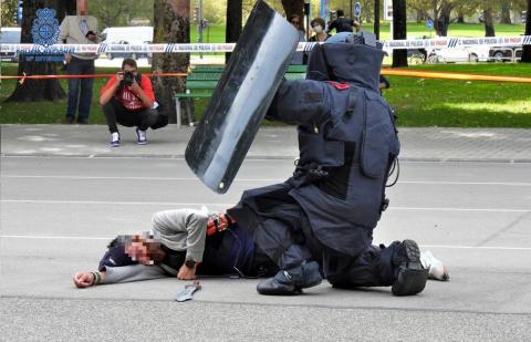 Policía Nacional amok