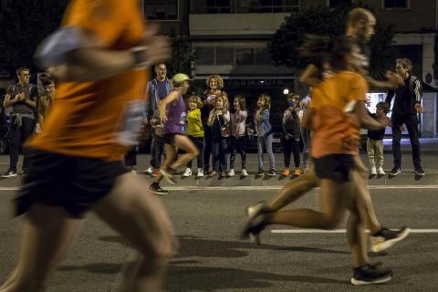 Disputa de la prueba por las calles de Pamplona