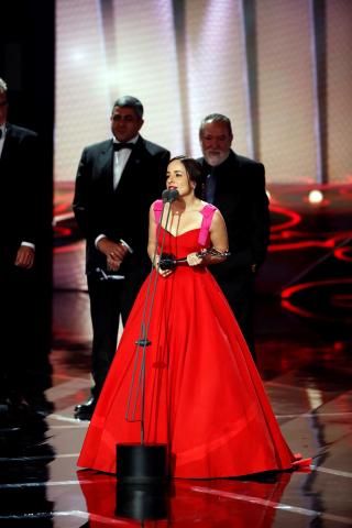 Fotos de la alfombra roja de los premios Platino.