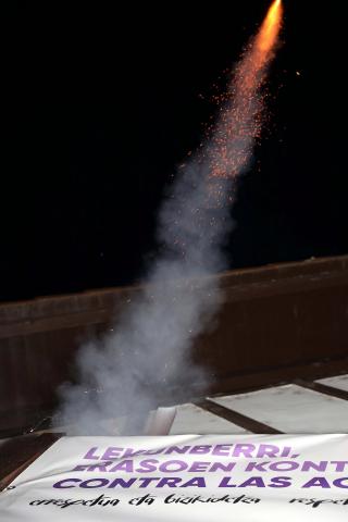 Primer cohete de fiestas tras la pandemia.