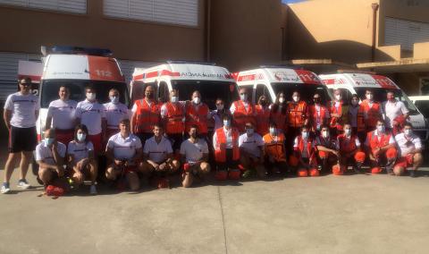 El dispositivo de Cruz Roja estuvo formado por 27 voluntarios