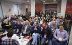 Reunión, el sábado, del Comité Regional del PSN. En primera fila, los candidatos al Congreso, Cerdán (izda.) y al Senado, Magdaleno (dcha.).