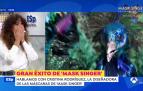 Imagen de la diseñadora de Mask Singer España Cristina Rodríguez en Espejo Público