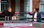 Imagen de Pablo Iglesias y Antonio García Ferreras, durante la entrevista de este lunes en 'Al rojo vivo'