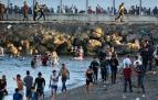 Ceuta bate el récord en la entrada de inmigrantes en España en un día