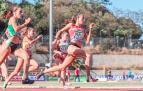 Nerea Bermejo durante la carrera en la que batió el récord de los 200 metros lisos en Hospitalet