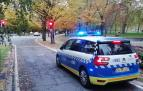 Un vehículo de Policía Municipal de Pamplona