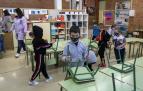Aula con alumnos de un colegio navarro