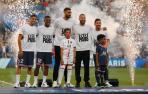Achraf Hakimi, Georginio Wijnaldum, Gianluigi Donnarumma, Sergio Ramos y Lionel Messi.