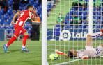 Luis Suárez celebra su gol ante el Getafe