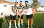 Jorge, Raúl y Miguel Chueca Litago son hermanos y han coincidido esta temporada en el Buñuel, de la Regional Preferente