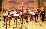 """La Coral de Elizondo graba una canción de la película """"Baztan"""""""