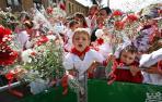En la ofrenda floral del Día del Niño, en las fiestas de 2012.