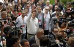 Pedro Sánchez, a su llegada al Congreso en Madrid
