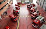 Niños de entre 5  y 12 años visitan los parques de bomberos de Navarra