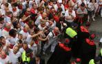 Dos detenidos por los incidentes en la procesión de San Fermín de 2014