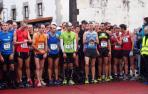 Los corredores del cross de Araitz-Betelu, en la salida