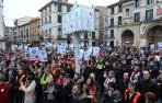 Imagen de una manifestación contra el cierre de la empresa de Buñuel que se celebró en Tudela.