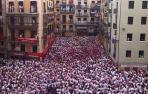 Pamplona, pendiente de la lluvia a una hora del Chupinazo