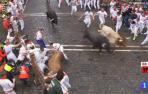 Peligroso encierro con cornada en la Plaza del Ayuntamiento