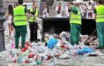 Aumenta un 6,64% los residuos recogidos durante los Sanfermines 2016