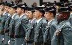 Varios agentes de la Guardia Civil, en un desfile.