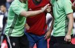 Javier Flaño, durante el partido contra la Real Sociedad.