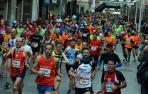Participantes en la salida de la Media Maratón tudelana del pasado año.