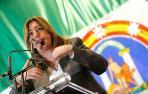 La presidenta de la Junta de Andalucía, Susana Díaz, durante su intervención en el Día de Andalucía.