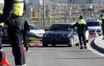 Control de tráfico de la Policía Municipal de Pamplona