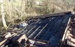 Un incendio afecta al tejado de una vivienda en Elbete