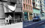 Calle Yanguas y Miranda de Pamplona, en 1979 y 2018.