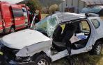 Un herido grave al chocar un camión y un todoterreno en Sarasa