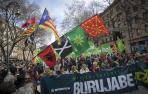 "Miles celebran en Pamplona el Aberri Eguna reclamando ""un proceso soberanista"""