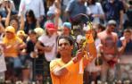 Nadal remonta y avanza a semifinales en Roma tras tropezar en el primer set