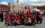 La afición de Osasuna vistió de rojo Valladolid
