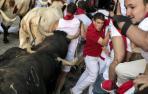 Fotos exclusivas del quinto encierro de San Fermín 2018