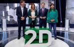 Díaz, Moreno, Rodríguez y Marín se confrontan en el primer debate televisivo