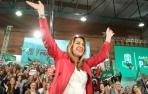 La presidenta de la Junta y candidata a la reelección por el PSOE-A, Susana Díaz