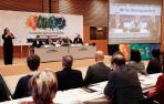La ministra de Sanidad, Consumo y Bienestar Social, María Luisa Carcedo, en la inauguración del II Congreso Nacional de Derecho de la Discapacidad en Pamplona.