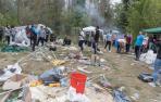 Tudela recogió el lunes la basura de las comidas del Ángel del domingo