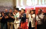 Chivite, Esporrín y otros candidatos del PSN, este lunes en Condestable.