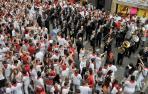 ¿Cuántos pasos da un músico de la Pamplonesa durante una jornada en San Fermín?