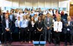 Miembros de Aedipe Navarra, a la conclusión de la Asamblea Anual de la asociación celebrada en el Colegio de Médicos de Pamplona.