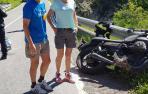 Tres motoristas, heridos graves en dos accidentes en Navarra