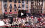 En directo la despedida de los Gigantes en la plaza del Ayuntamiento