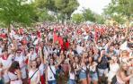 Foto del público asistente a la fiesta Todo Joven de fiestas de Tudela 2018.