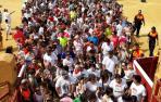 Carrera del encierro en Tudela. DIEGO CARASUSÁN