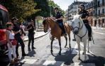 Policías a caballo también en las fiestas de Tudela